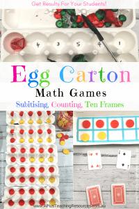 Egg Carton Maths Activities