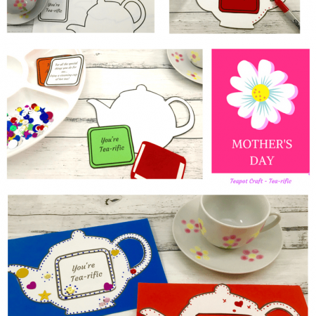 Mother's Day teapot card ideas
