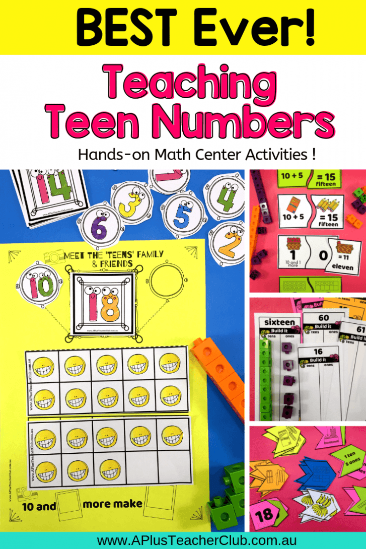 Teaching Teen Numbers & 11-20 Pin image