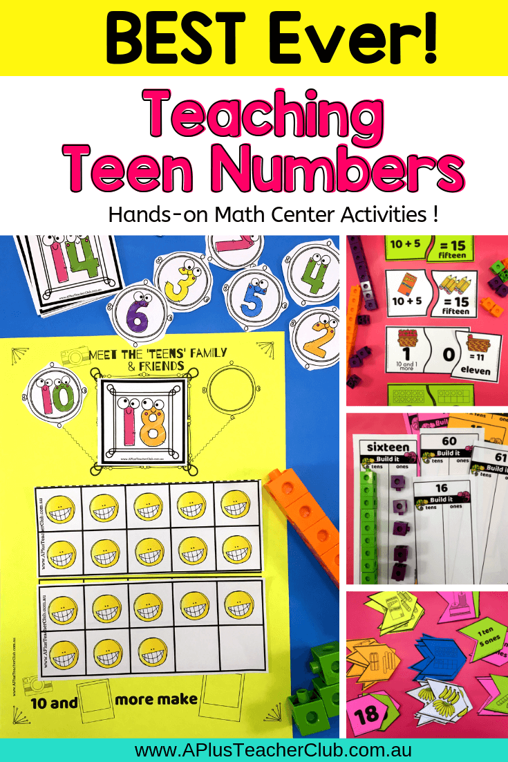 teen number math center activities