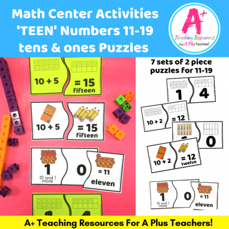 Number Puzzles for 11-19 and teens product image