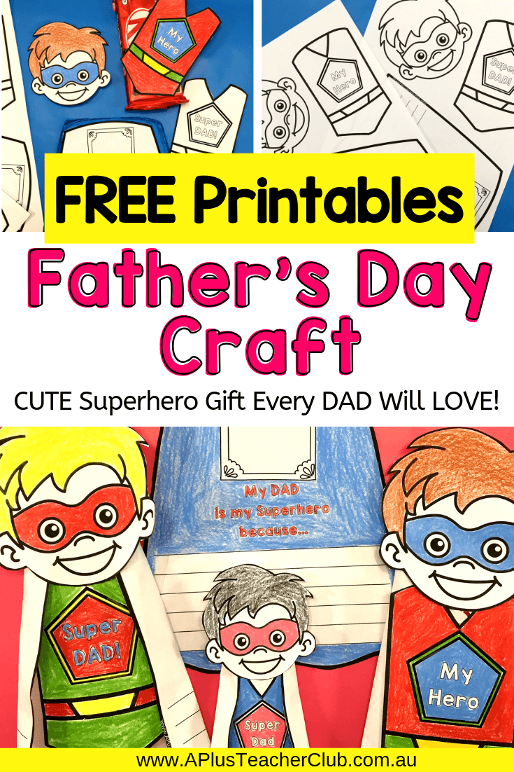 Father's Day Superhero Craft Free Printables Image
