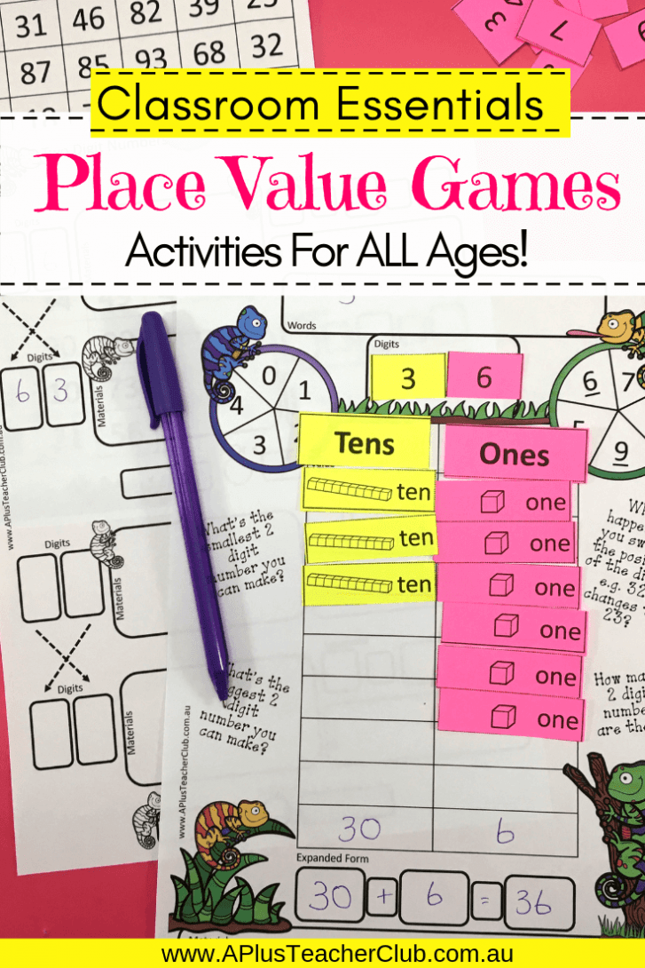 2 Digit Place Value Games product image