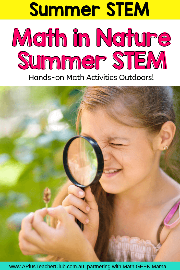 Math in Nature Summer STEM Activities Pin image
