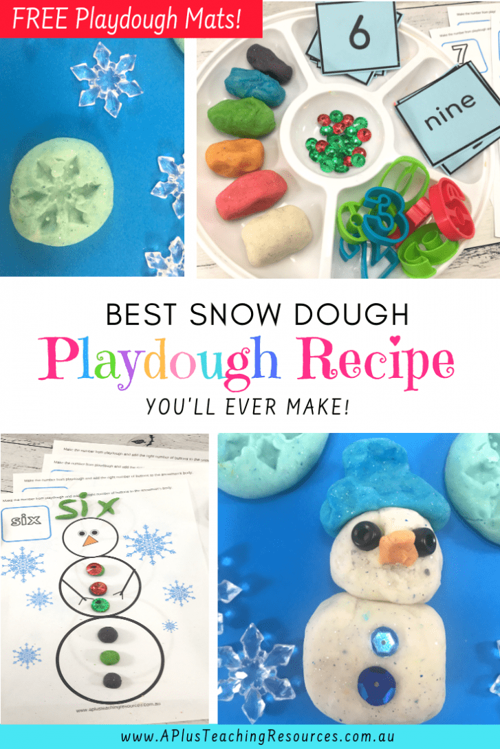 Easy Snow Dough Playdough Recipe
