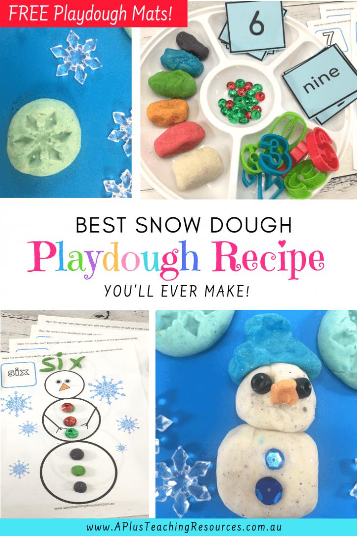 Easy Snow Dough Playdough Recipe