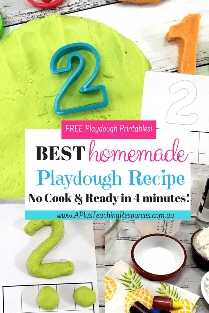 Squishy Homemade playdough