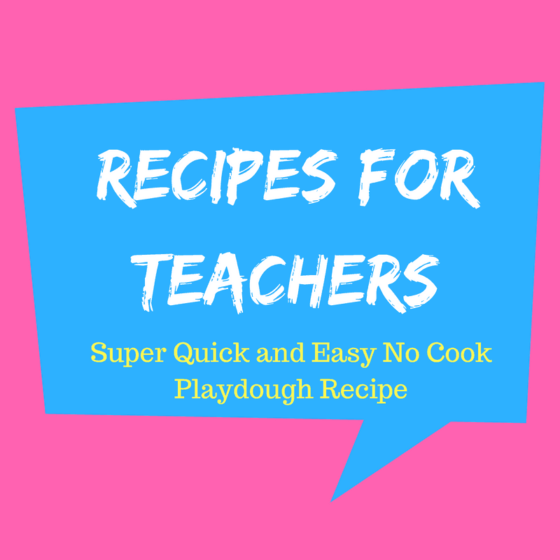 Super Quick and Easy No Cook Playdough Recipe