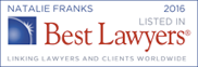 Natalie Franks listed in Best Lawyers 2016