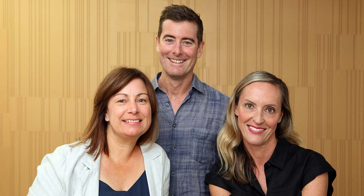 Rebecca Sargeant, Justin Groves and Penny Flanders. New staff members at Spinach advertising agency.