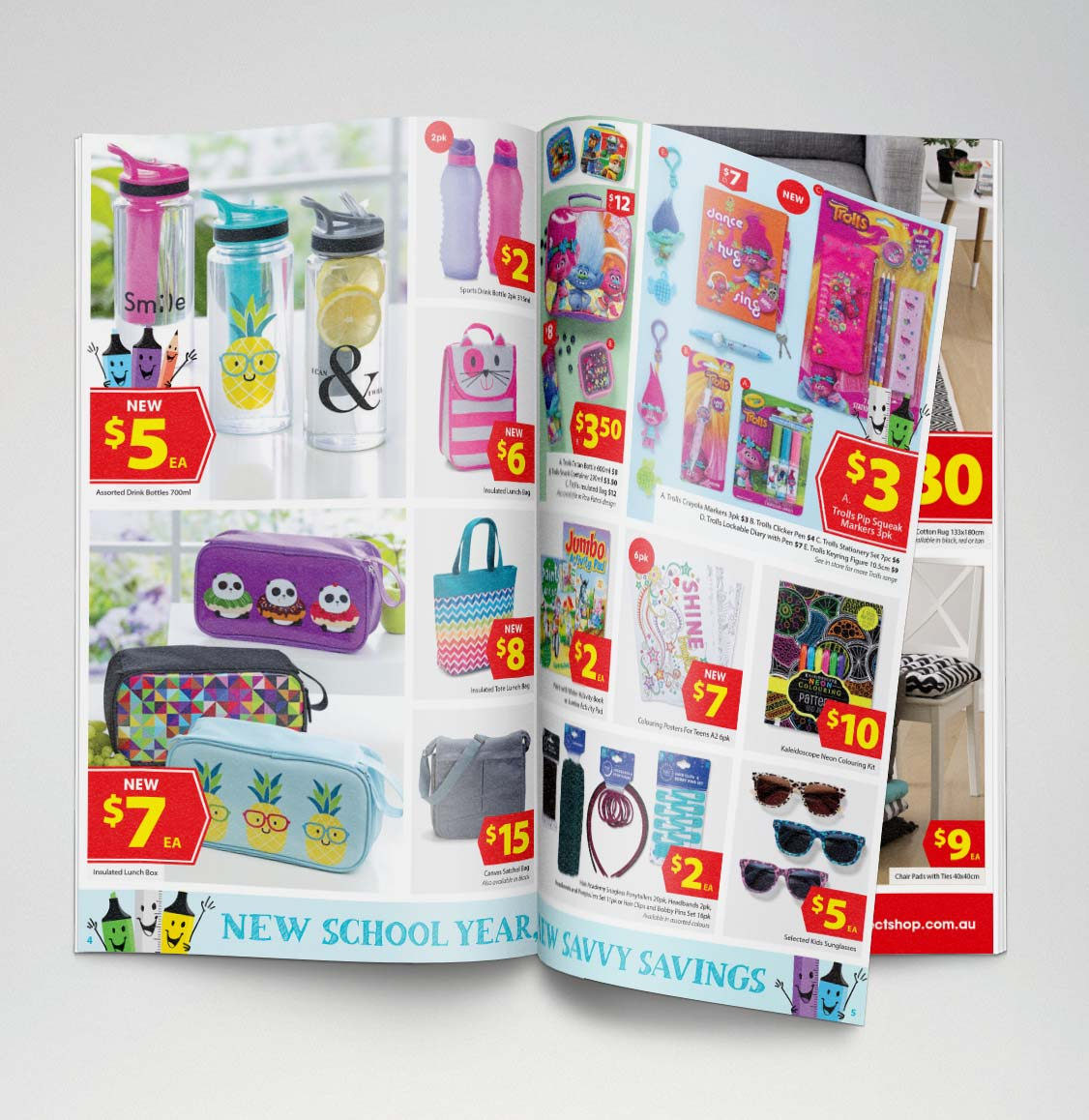 The Reject Shop catalogue showing savvy savings