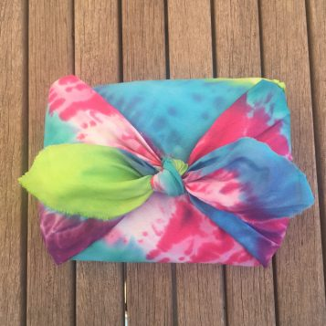 DIY Tie Dyed Gift Wrap