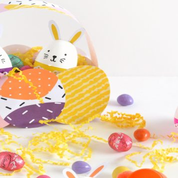 DIY Easter Basket And Bunny Eggs