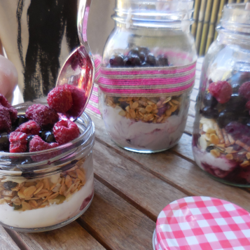 Mason Jar Summer Parfaits