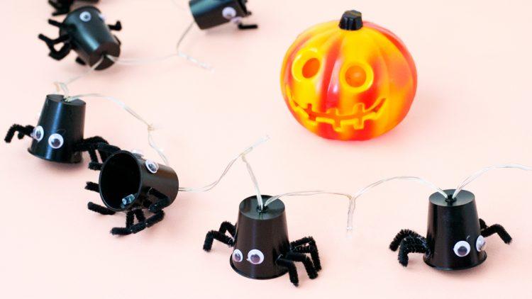 DIY Spooky Spider Lights