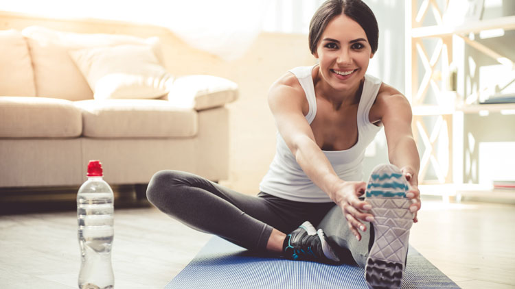 Get fit at home with our workout tips