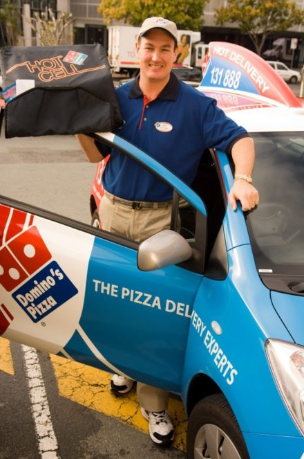 Very Early Days Pizza Delivery Guy