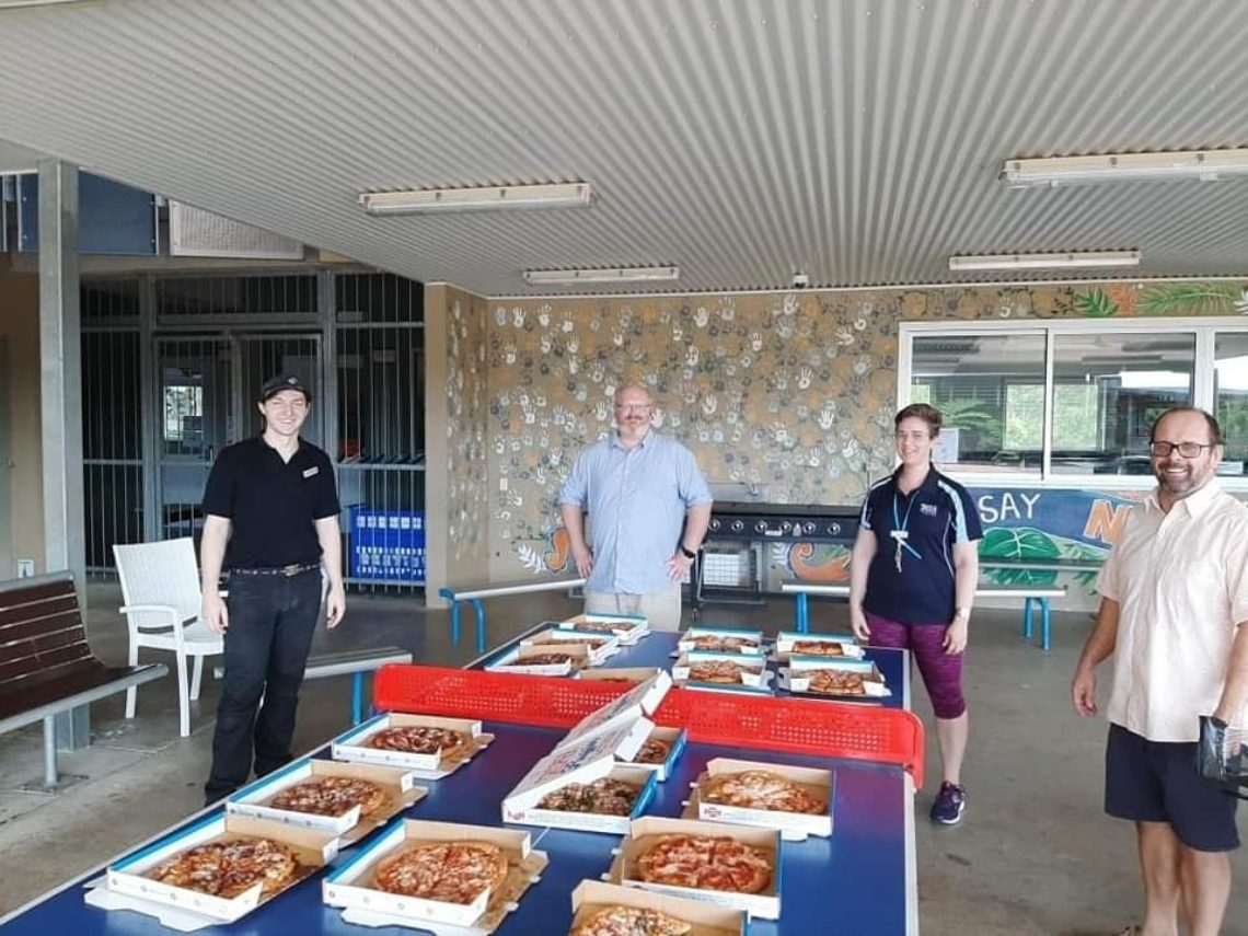Dominos Donation To Prince Of Peace Lutheran College On Franchise Buye