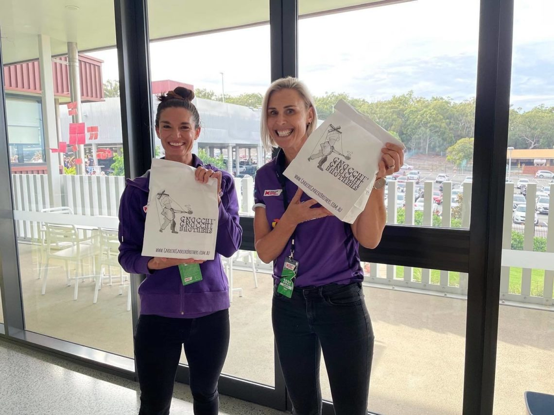 Queensland Firebirds With Gnocchi Gnocchi Brothers On Franchise Buyer