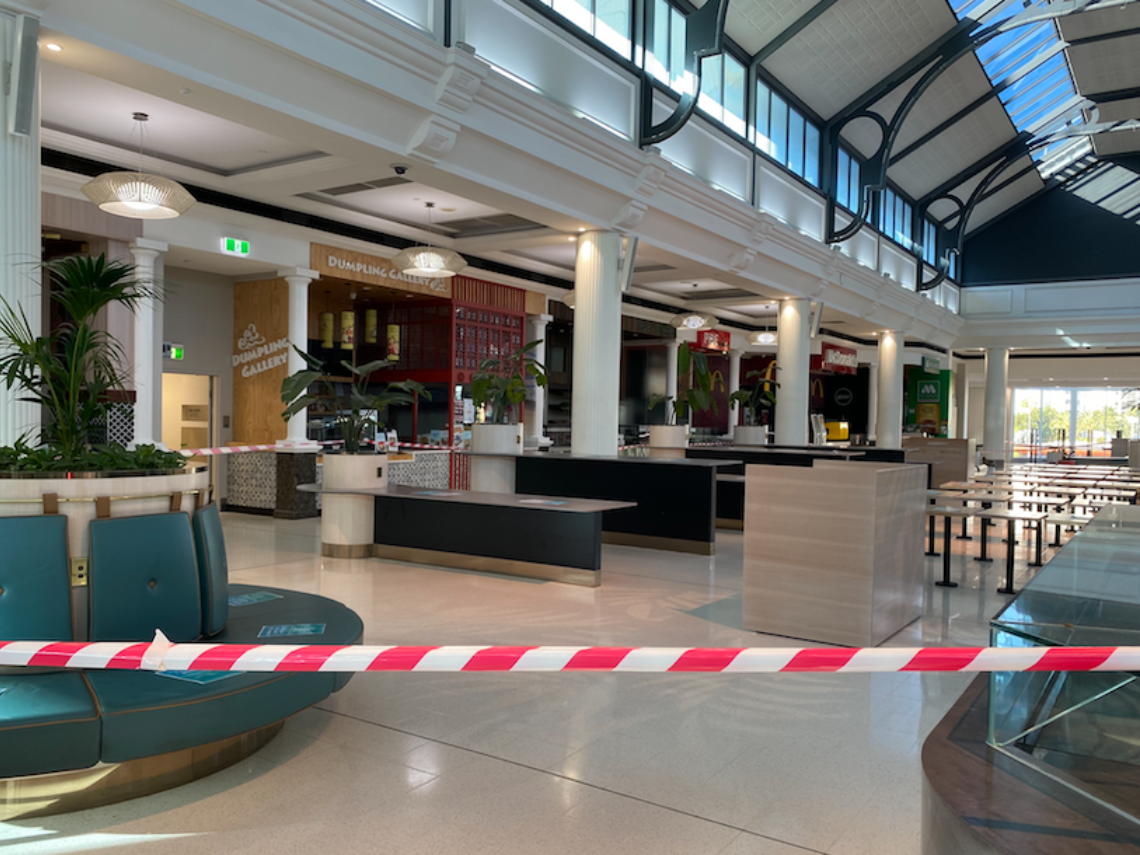 Shopping Centres Closed Due To Covid 19 Crisis Food Court Franchise Buyer