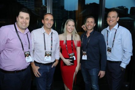 Some Of The Team At The Many Franchise Conferences They Attend To Represent The Business