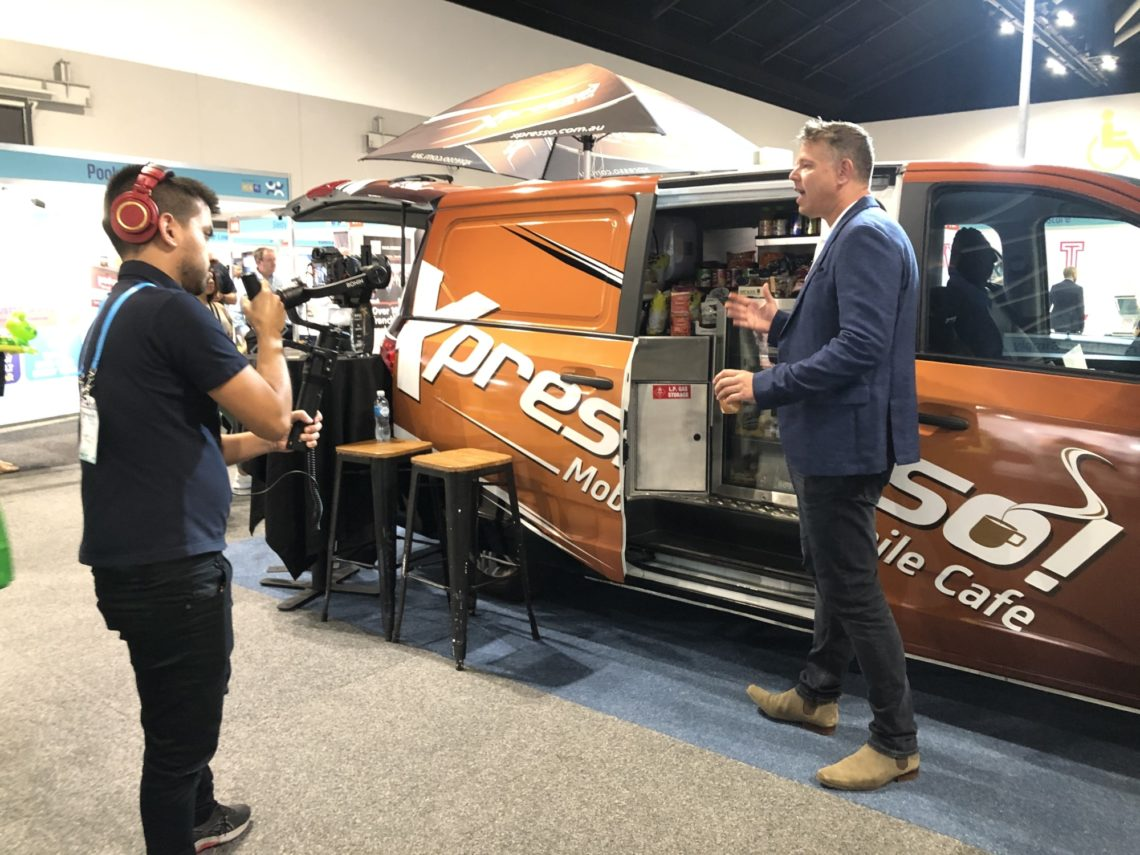 Xpresso Mobile Cafe Jonathan Payne Filming With Franchise Buyer