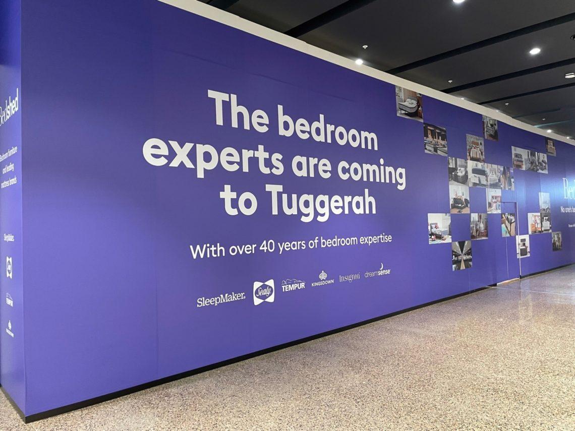 Bedshed Tuggerah Store Hoarding Awaiting Opening On Franchise Buyer