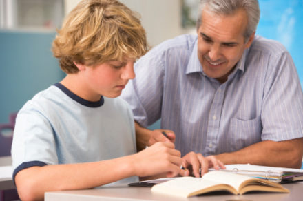 Young Student And Male Tutor