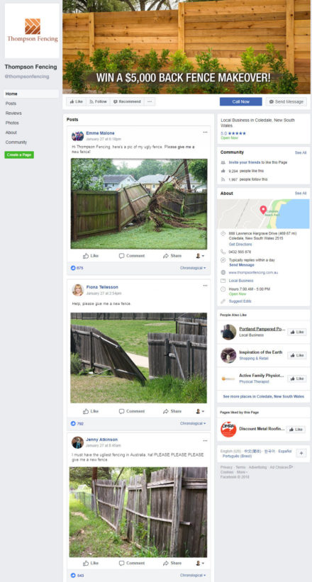 Facebook Ugly Fence Campaign Image