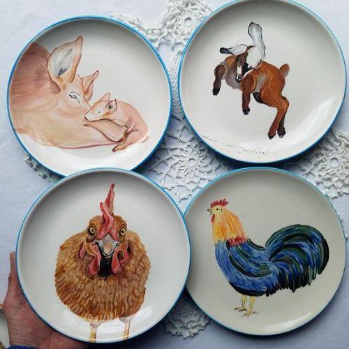 Ceramic Plates | Farm Animals | 5-7 years