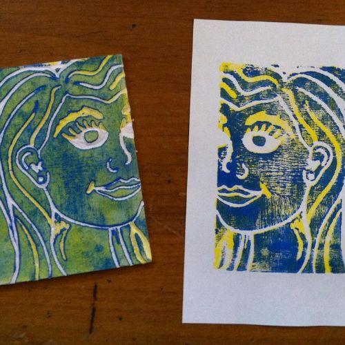 Printmaking   Printed Portraits   5-7 years
