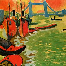 Paint Tug Boats on the Harbour Inspired by Derain | 5-7 Years