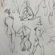 Life Drawing Workshop Mixed Media | Kassandra Bossell