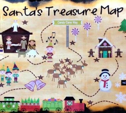 Design | Santa Claus gift map | 5-8 years
