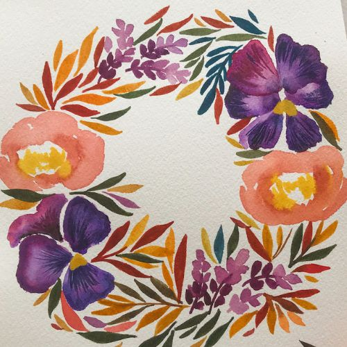 Painting   Watercolour Wreaths   8-12 years