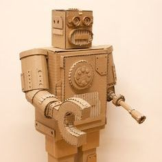 Sculpture | Cardboard Android | 9-12 years