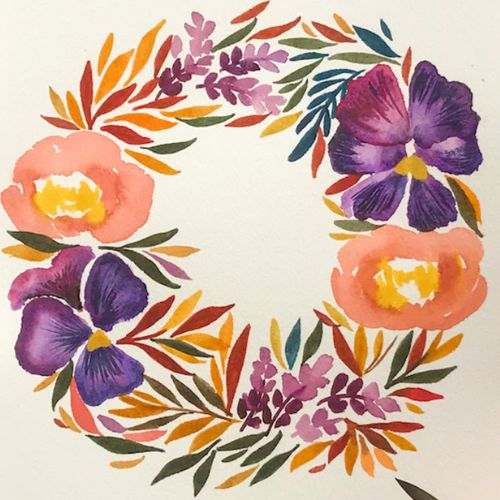 Painting | Watercolour Wreaths | 7-9 years