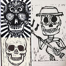 Printmaking | Skulls Day of the Dead | 9-12 years