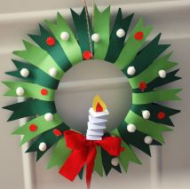 Festive Paper Wreaths | 8-12 years