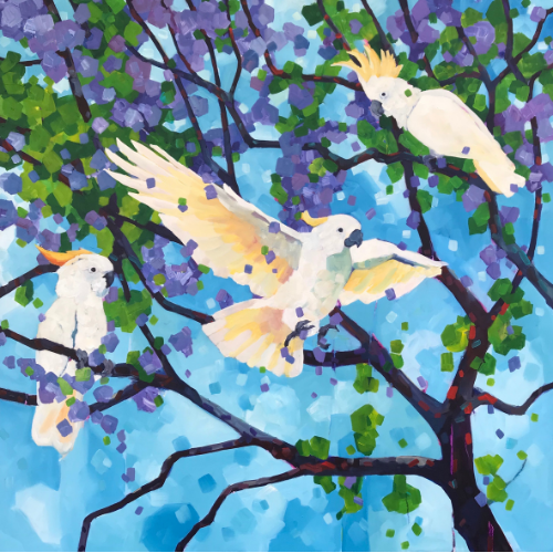 Online | Acrylic Painting | Beautiful Birds with Mellissa Read-Devine