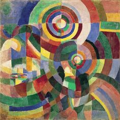 Painting | Geometric Painting inspired by Sonia Delaunay | 5-7 years
