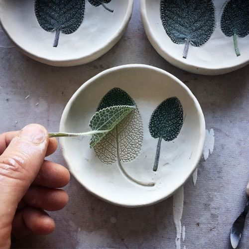 Handbuilding | Nature Imprint Bowls | 5-7 years