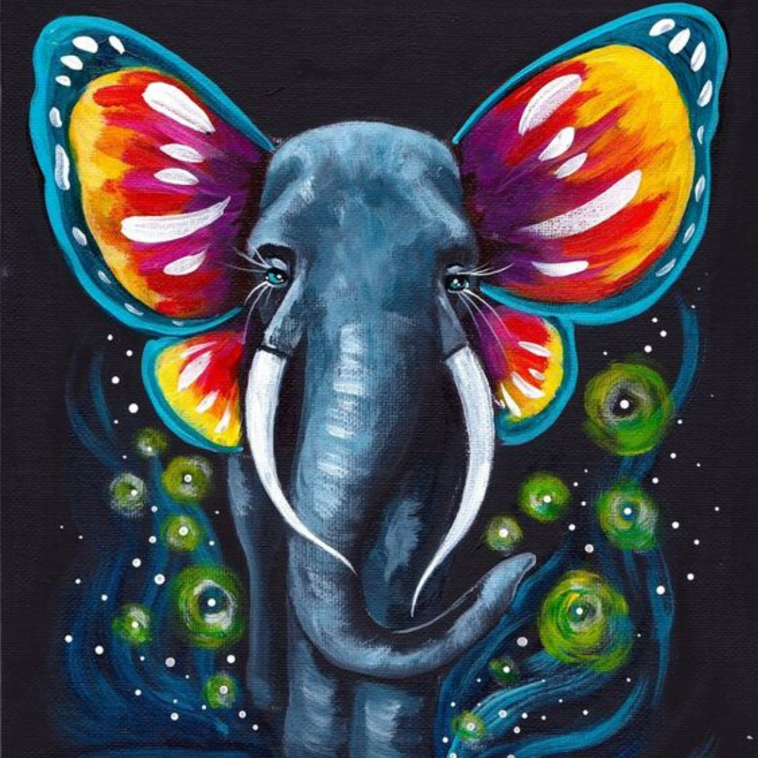 Paint Elegant Elephants | 5-7 years