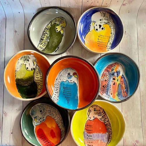 Ceramic Plates | Rainbow Lorikeets | 12+