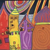 Painting | Sparkling Cities inspired by Hundertwasser | 5-7 years