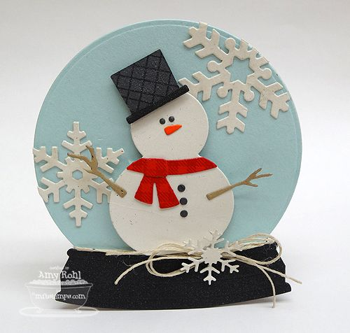 Mixed Media - Collage | Decorative Christmas Snowglobes or Gingerbread dolls | 5-8 years