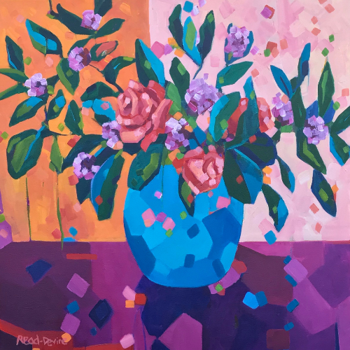 Online |  Contemporary Florals | Acrylic Painting with Mellissa Read-Devine