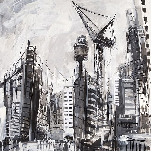 Drawing | Expressive Sydney Urban Landscapes in Charcoal & Mixed Media with Jody Graham