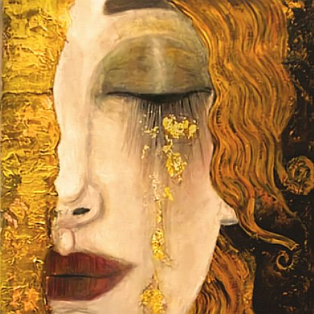Painting | Freya's Tears Inspired by Klimt | 8-12 years