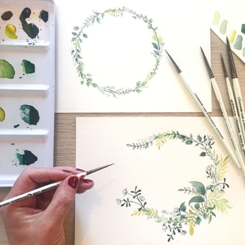 Watercolour Wreaths and Personalised Cards with Monika Diak
